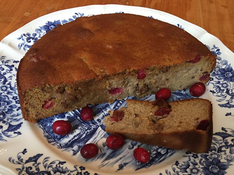 Cake stoofpeer cranberries