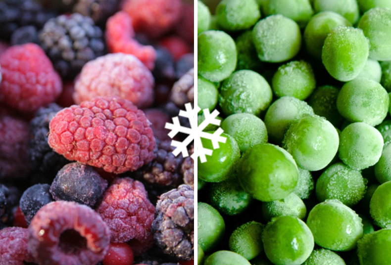 Demeter bevroren groente en fruit